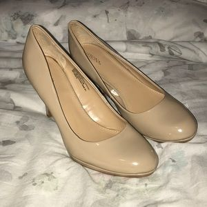 Merona nude closed toe heels